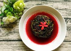 蒜粒炒红苋菜