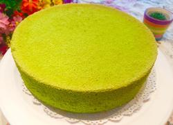 菠菜汁戚风蛋糕(八寸)