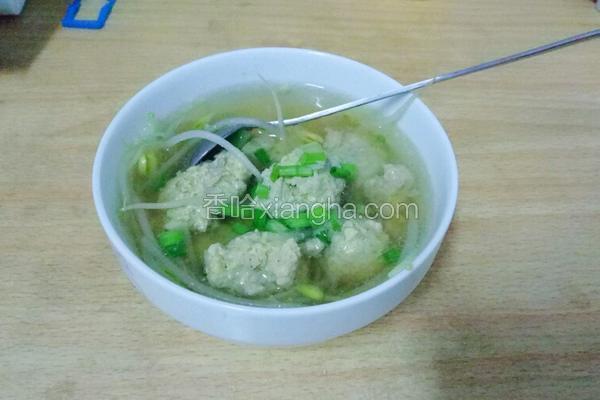 肉丸豆芽汤