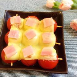 圣女果奶酪培根烤烤的做法[图]