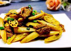 藕尖炒牛肉