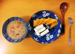 藏茶板栗粥、蒸山药南瓜(健脾养胃美颜早餐)