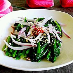 芝麻洋葱拌菠菜