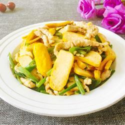 芹菜肉丝炒黄豆腐