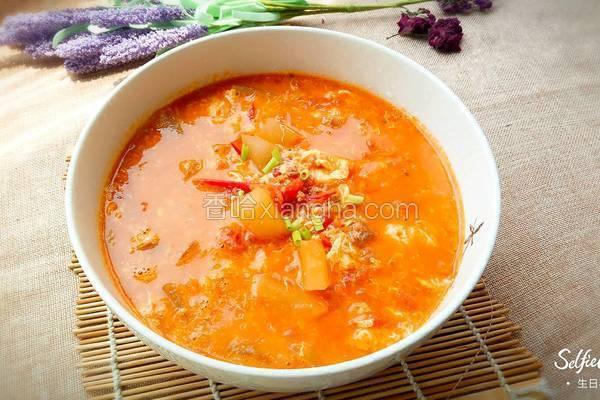 西红柿鸡蛋冬瓜汤
