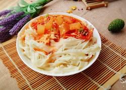 西红柿冬瓜鸡蛋盖浇刀削面