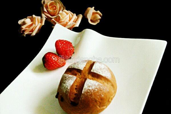 巧克力黑眼豆豆软面包
