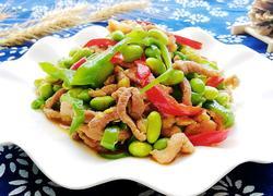 毛豆米炒肉丝