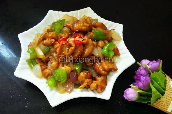青椒洋葱炒肥肠