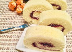 蓝莓果酱蛋糕卷