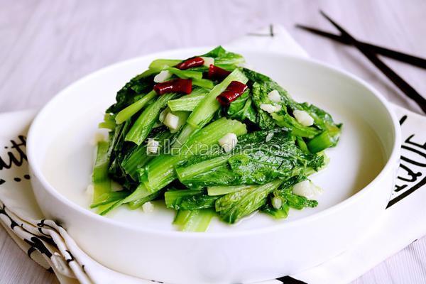 炝炒小白菜