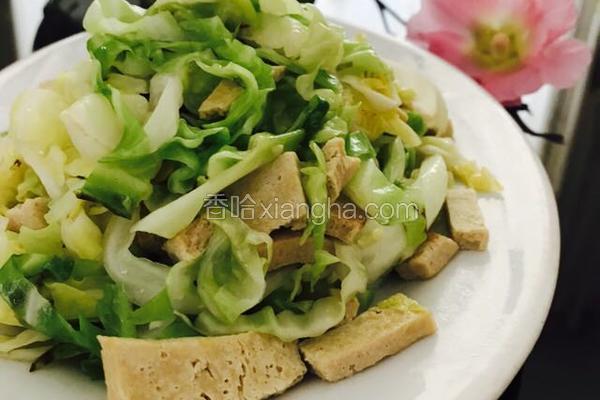 卷心菜清炒冻豆腐