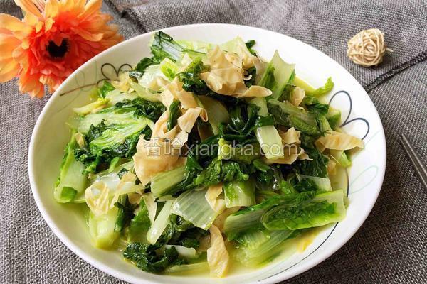 豆腐皮炒毛白菜