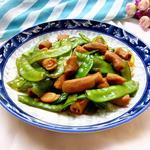 粉肠炒荷兰豆