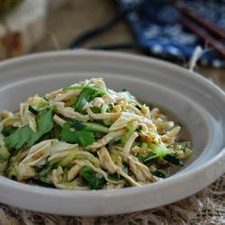 鸡丝腐竹拌黄瓜