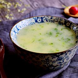 小白菜玉米粥