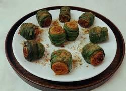 烤韭菜豆皮卷