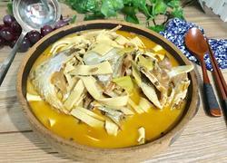 腊鱼头炖豆腐皮