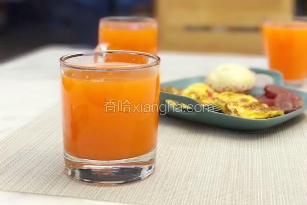 鲜榨胡萝卜汁