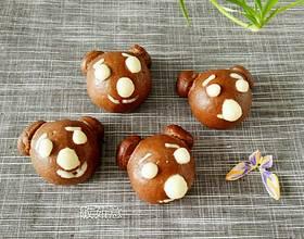 巧克力小熊馒头