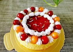 樱桃奶油裸蛋糕