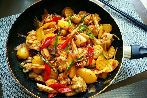 土豆鸡翅香锅