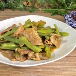 四季豆炖肉片