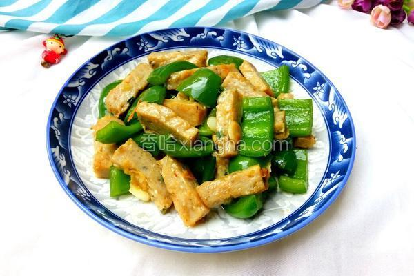 腐竹鲮鱼片炒圆椒
