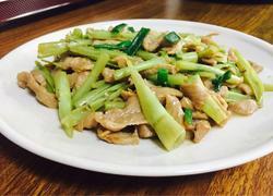 牛肉炒通菜梗