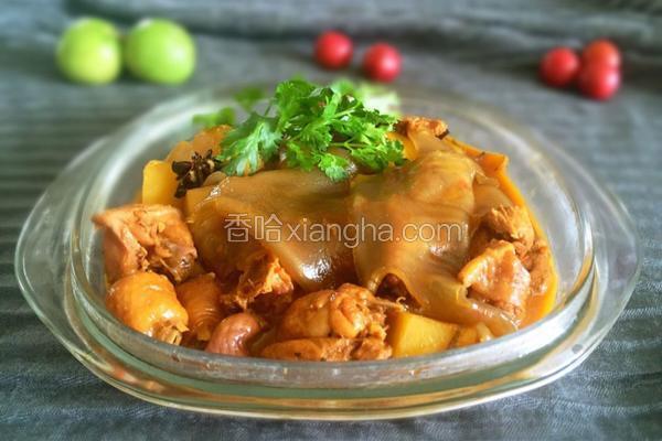 土豆粉皮焖鸡