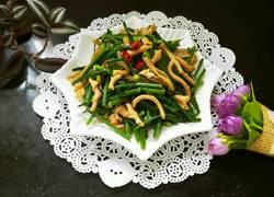 韭菜苔炒鸭肠