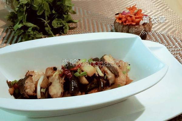 咸鱼烧茄子土豆