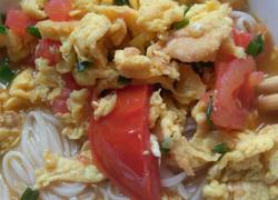 番茄煎蛋盖浇面