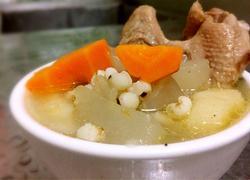 马蹄胡萝卜冬瓜薏米水鸭汤