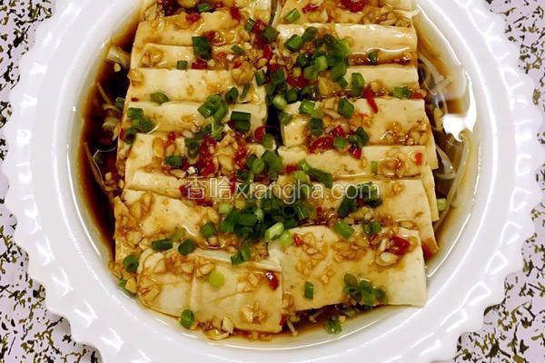 凉拌豆腐金针菇