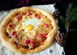 意面酱料抱蛋披萨