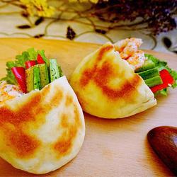 虾仁黄瓜口袋饼