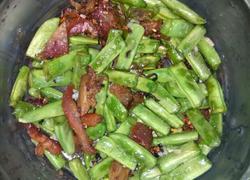 四季豆橄榄菜炒叉烧肉