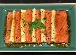 三文鱼豆腐拼盘