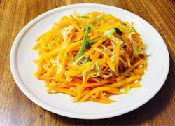 炝炒金针菇胡萝卜丝