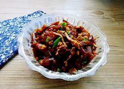 肉丝炒玫瑰大头菜