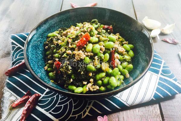 雪菜毛豆炒肉沫