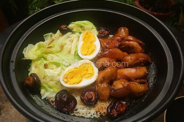 鸡全腿香菇煲仔饭
