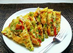 青椒虾煎蛋