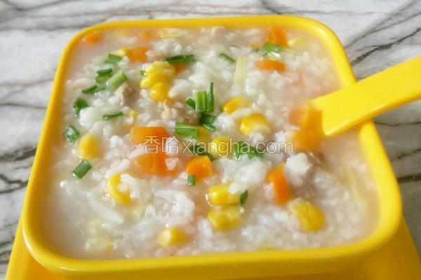 玉米胡萝卜瘦肉粥