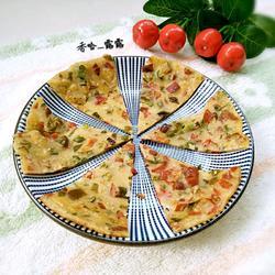 彩椒芝麻饼