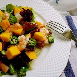 芒果虾仁沙拉