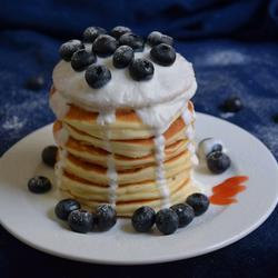 蓝莓酸奶松饼
