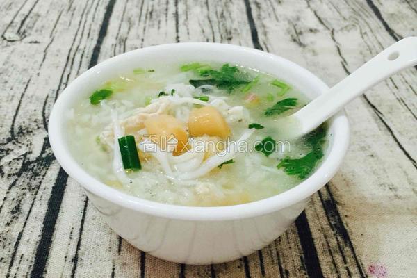 干贝冬菜银鱼粥(潮汕经典海鲜粥)