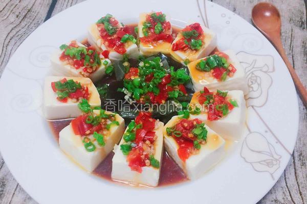 剁椒皮蛋拌豆腐